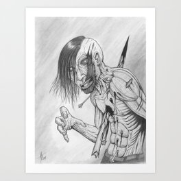 Aim for the head, dammit Art Print