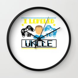 Gamer Gaming Leveled Up to Uncle Wall Clock