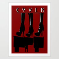 coven Art Prints featuring Coven by Ruler Of Nothing Important