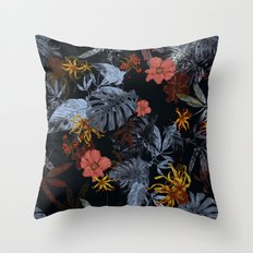 Tropical Midnight Throw Pillow