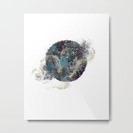 Galaxy Moon Watercolour & Gold Art Print Art Print Metal Print