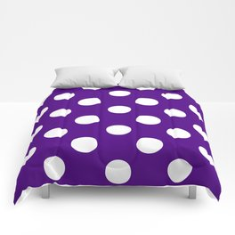Polka Dots (White/Indigo) Comforters