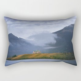Sunrise over Waterton Lakes National Park and The Prince of Wales Hotel .3 Rectangular Pillow