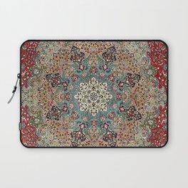 Antique Red Blue Black Persian Carpet Print Laptop Sleeve