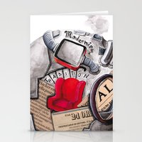 globe Stationery Cards featuring globe by Paradox