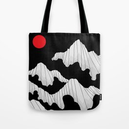The dark cloud peaks Tote Bag