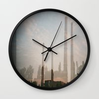 industrial Wall Clocks featuring industrial by cristiana