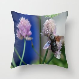 Carpenter Bee 1 Throw Pillow