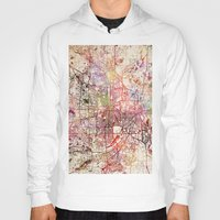 minneapolis Hoodies featuring Minneapolis by MapMapMaps.Watercolors