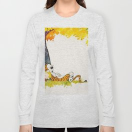 Calvin And Hobbes Cartoon Long Sleeve T-shirt