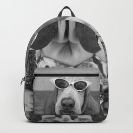 Basset Hound Beach Party Backpack