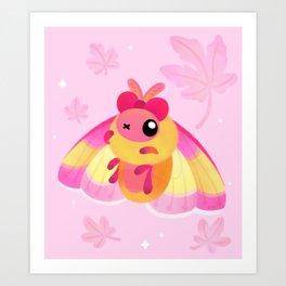Rosy Maple Moth Art Print