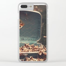 Taking Autumn With Me Clear iPhone Case