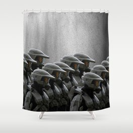 The Halo Army Shower Curtain