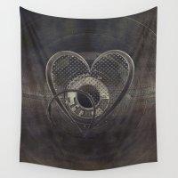metallic Wall Tapestries featuring Metallic Heart by Simone Gatterwe