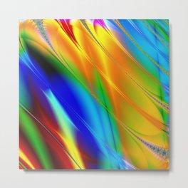Digital art fractal colors Metal Print