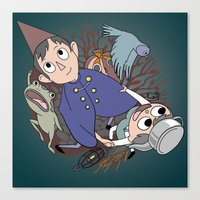 over the garden wall Canvas Prints featuring Over the garden wall by podborski