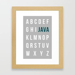 JAVA-lphabet Framed Art Print