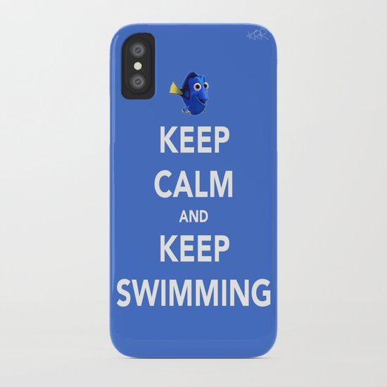 Keep Calm And Keep Swimming iPhone Case