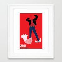 grease Framed Art Prints featuring Grease by Jake Newton