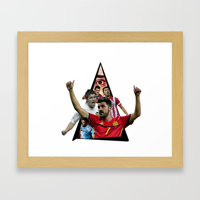 DavidVillaa football Framed Art Print