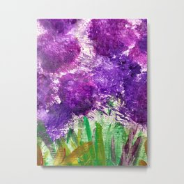 Purple Globe Amaranth Metal Print