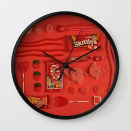 Red Candy Wall Clock