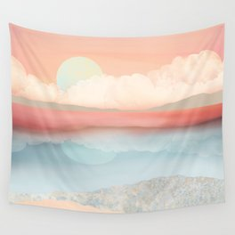 Mint Moon Beach Wall Tapestry