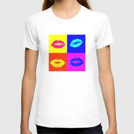 LIPS ON COLOURED SQUARES / LIP SERVICE T-shirt