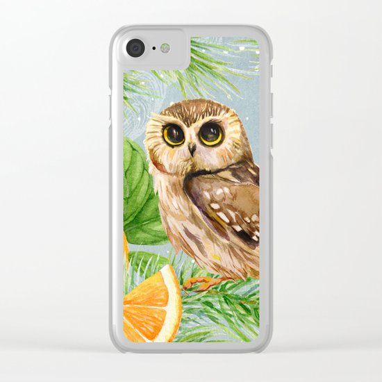 Winter animal #10 Clear iPhone Case