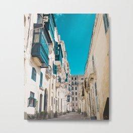 Hidden Street - Valletta, Malta Metal Print