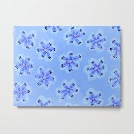 Blue Emily Rose Metal Print