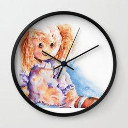 Raggedy Rosie ... Rag Doll Wall Clock