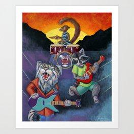 Animal Rock Band Art Print