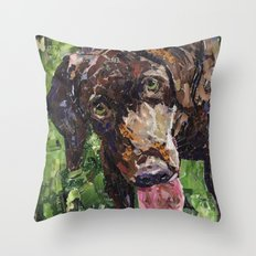 Mugs The Amazing Chocolate Lab Throw Pillow