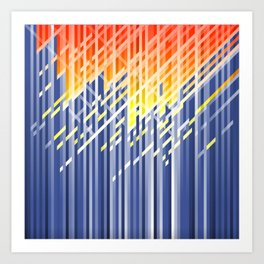 Flame dynamic lines Art Print
