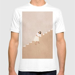 Girl Thinking on a Stairway T-shirt