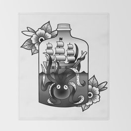 ship in a bottle Throw Blanket