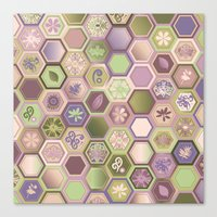 polygon Canvas Prints featuring Polygon pattern by /CAM
