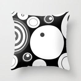 Circle Circus - 1960s Geometric Abstract Throw Pillow