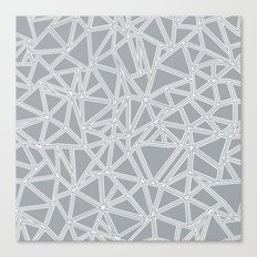 Abstract New Grey Canvas Print