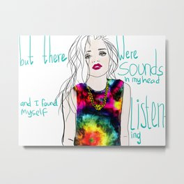 sounds in my head Metal Print