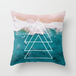 Beach Arrow / Geometric Throw Pillow