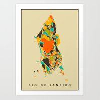rio Art Prints featuring Rio  by Nicksman