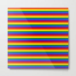 Mini Gay Pride Rainbow Flag Stripes Metal Print