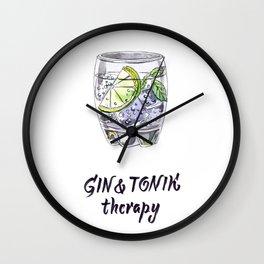 Gin and tonik therapy Wall Clock