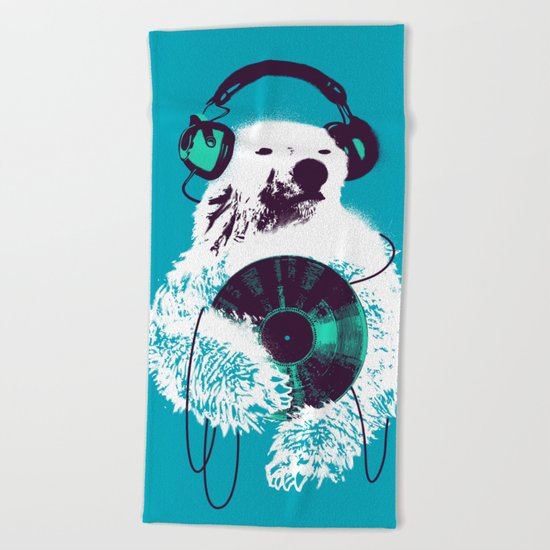 Record Bear Beach Towel