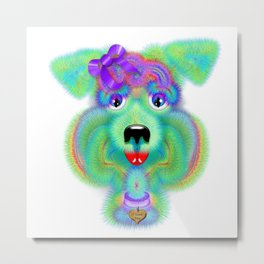 Biscuit Breath Metal Print