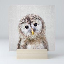 Baby Owl - Colorful Mini Art Print