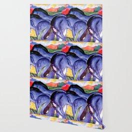 "Franz Marc ""The Large Blue Horses"" Wallpaper"